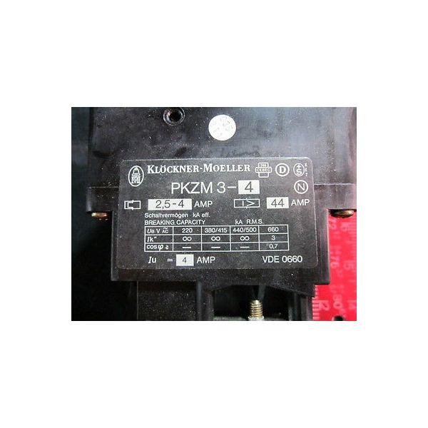 KLOCKNER MOELLER PKZM3-4 SWITCH MOTOR PROTECTION PKZM 3-4/U; 274681