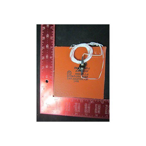 "RAMA CORPORATION FA4177CHU-1 5\"" X 5\"" Heater Blanket, 250W, 115V, 1069750-1-A--no"