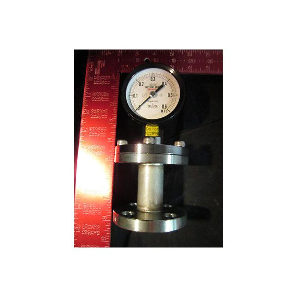 KURITA WATER 75 0-0.6MPASUS316 15AFF PRESSURE GAUGE 75 0-0.6MPASUS316 15AFF; DIA