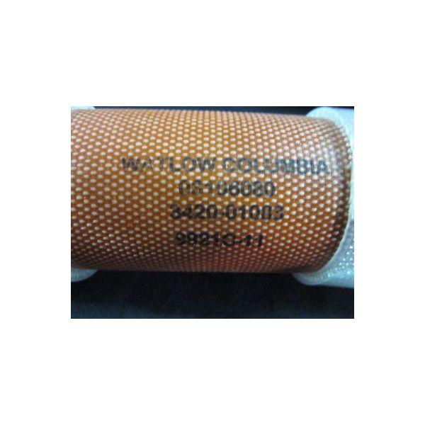 "AMAT 3420-01083 Heater Jacket/Insulator, 1\""ID Straight 6\"" Long Silicone"