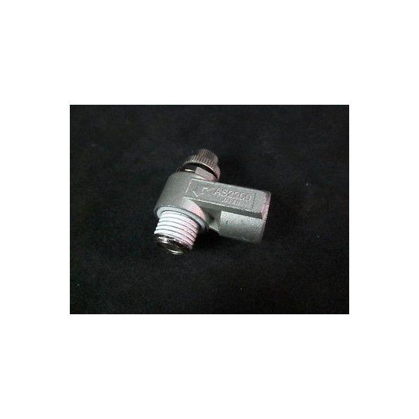 "SMC AS2200 1/8"" X 1/4"" NPT Bore Elbow Speed Control Valve--not in original packa"