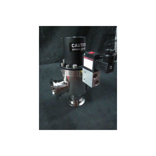 AMAT 3870-01441 Valve Vacuum Bellows AIR-ACT Open SPRG-CLOSE RTANG 1.5OD NW40 SS