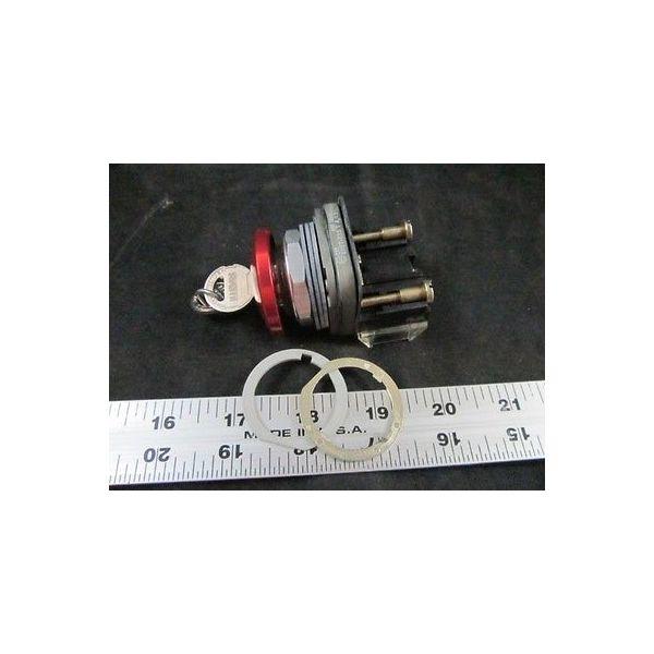 AMAT 1270-01580 Cylinder Lock, Push Button Switch MUSHROOM-HD Spring-BOLT RED