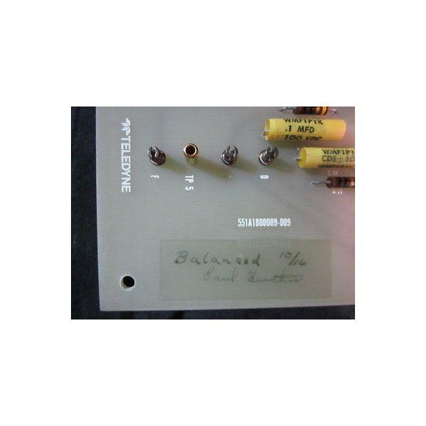TELEDYNE 551A1800009-009 PCB Assembly PN 01308; 551A1800010-001
