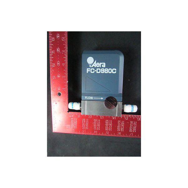 AMAT 3030-07652W Aera FC-D980C Mass Flow Controller, Range: 500 SCCM, Gas: HE, D