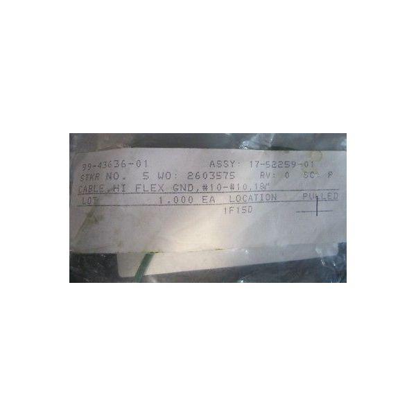 "RITE TRACK 99-43636-01 CABLE, HI FLEX GND, #10-#10, 18\"""