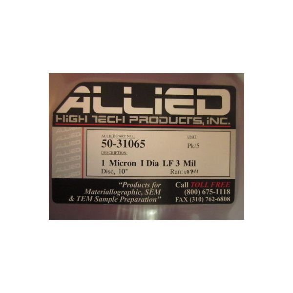 ALLIED HIGH TECH 50-31065 1 MICRON I DIA LF 3 MIL (PACK OF 5)