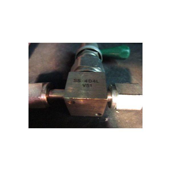 """NUPRO SS-4D4L-V51 Valve 1/4\"""" SS High-Purity Bellows-Sealed Valve"""