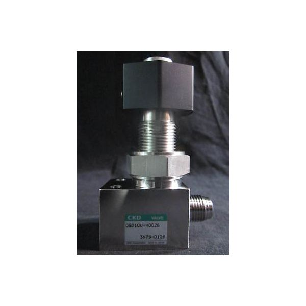 CKD 0GD10V-X0026 VALVE 90 deg manual 316 SS