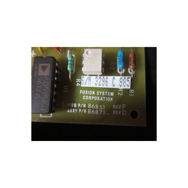Fusion Systems 086871 Chuck Overtemp PCB