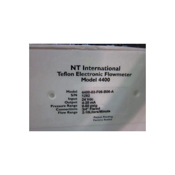 NT INTERNATIONAL 4400-03-F06-B06-A TEFLON ELECTRONIC FLOWMETER (NT INTERNATIONAL