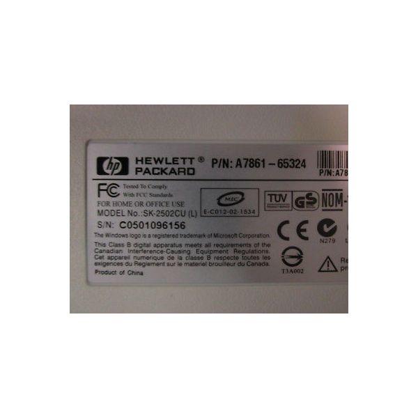 HEWLETT PACKARD A7861-65324 HEWLETT PACKARD USB KEYBOARD FOR SEM 9260A