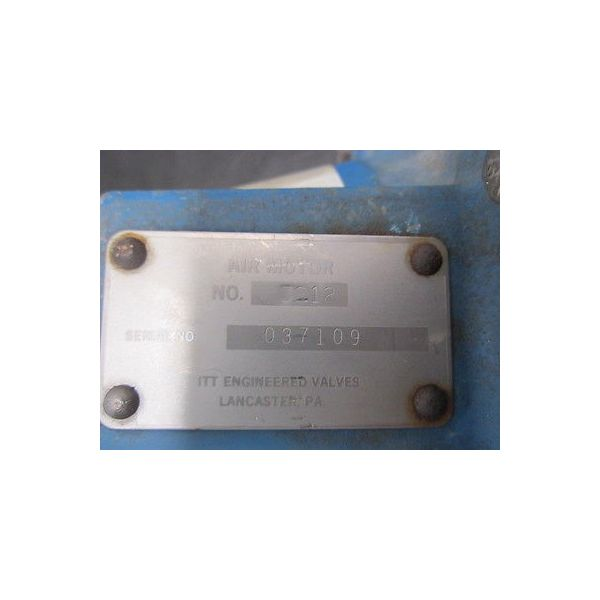 ITT ENGINEERING VALVES 3212-WITH-ITT-DIA-FLO VALVE ITT GRINNELL-AIR NO:3212 WITH