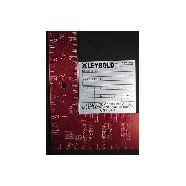 LEYBOLD 172 Serial Number On Label 20077410 Pack of 200