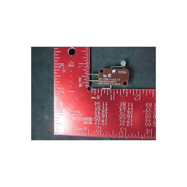OMRON V-105-1A4-T Switch,PKG 2 10A1/1HP 125 250VAC, 0.6A, 125VDC, 0.3A, 250VDC--