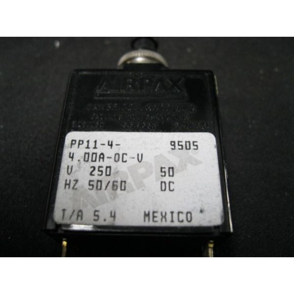 APPLIED MATERIALS (AMAT) 0680-01107 SANKEN-AIRPAX PP11-4-4.00A-OC CB MAG SER 1P 4.0A 50/60HZ SLOW/INRT WH