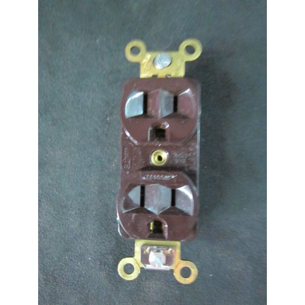 Applied Materials AMAT 0720-90686 BROWN HUBBELL 5252 Specification Grade Duplex Receptacle 15A 125VA