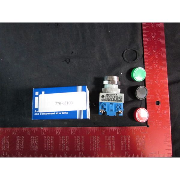 Applied Materials AMAT 1270-03106 SW PB MOM 1NO EXTENDED BLK IDEC