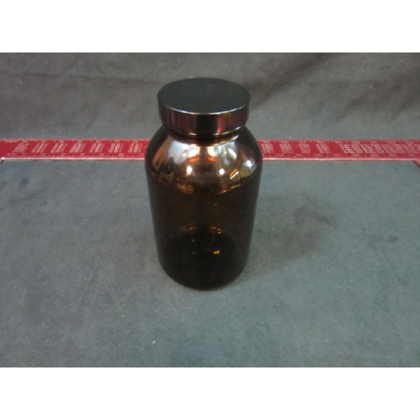 Freund Container 15816531-12N 16 OZ AMBER GLASS WIDE MOUTH PACKER BOTTLE WITH CAP CASE OF 12