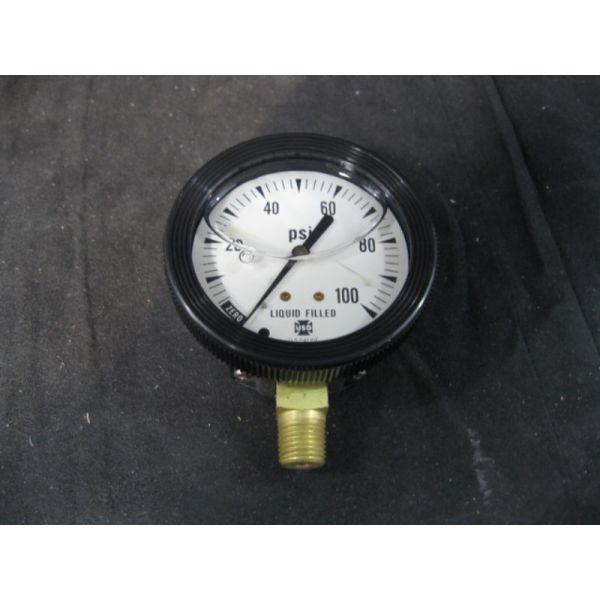 Applied Materials AMAT 3310-01023 GAUGE PRESS 0-100PSI 2-12IN 14 LM STEM LIQ FIL