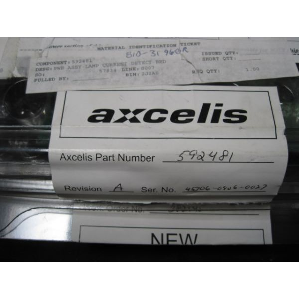 AXCELIS 592481 ASSY PWB LAMP CURRENT DETECTION