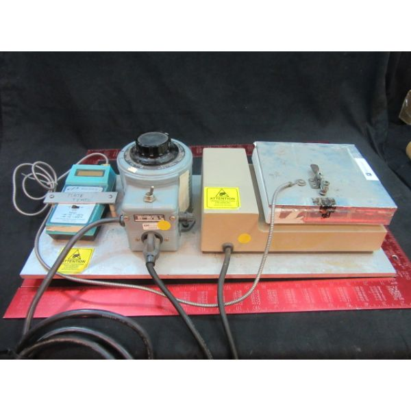 POWERSTAT COLE PARMER 3 PCS TO INCLUDE NUOVA 2 HOT PLATE POWERSTAT VARIABLE AUTO TRANSFORMER COLE PA