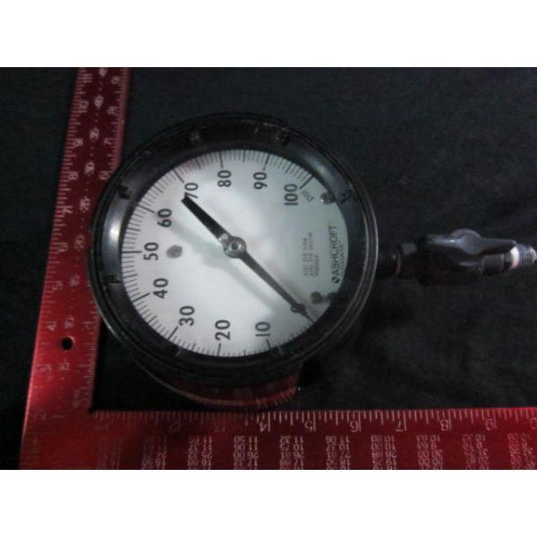ASHCROFT DURAGAUGE 0-100 OXYGEN PRESSURE GAUGE 100PSI AISI 316 TUBE AISI 316 SOCKET WELDED