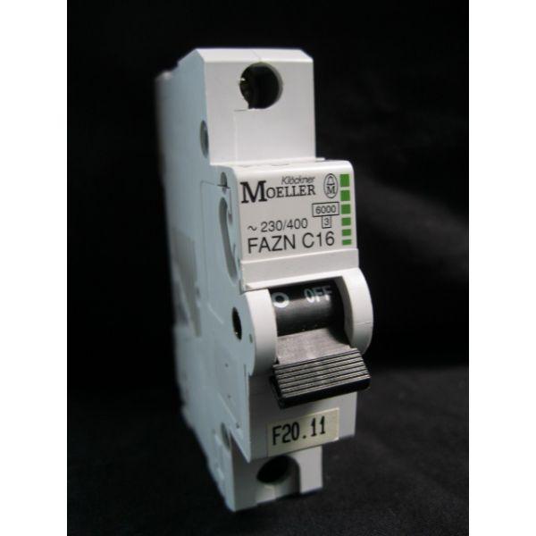 KLOCKNER-MOELLER FAZN-C16 CIRCUIT BREAKER