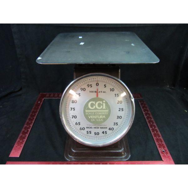 HCD10004 HCD10004 HCD SERIES Capacity 100 lb x 4 oz 45 kg x 100 g 8 Dial Face -- Dim 12 12H x 14D x