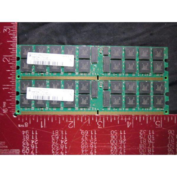 Infineon HYS72T256220HR-5-A 4GB kit 2GB x 2 PC2-3200 DDR2 400MHz ECC Registered CL3 240-Pin