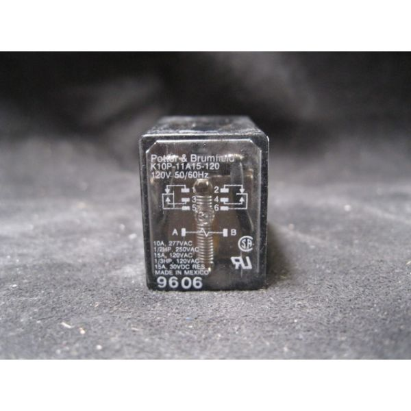 POTTER  BRUMFIELD K10P-11A15-120 15A 120VAC K10 MINIATURE RELAY 4-1393144-0 P POLYCARBONATE COVER 11