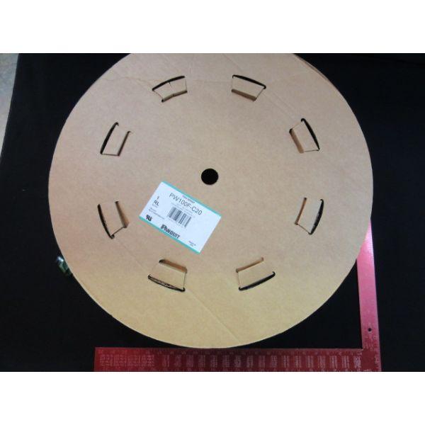 PANDUIT PW100F-C20 Pan-Wrap 1 Split Harness Polyethylene Wrap - Cable wrap - 100 ft - black
