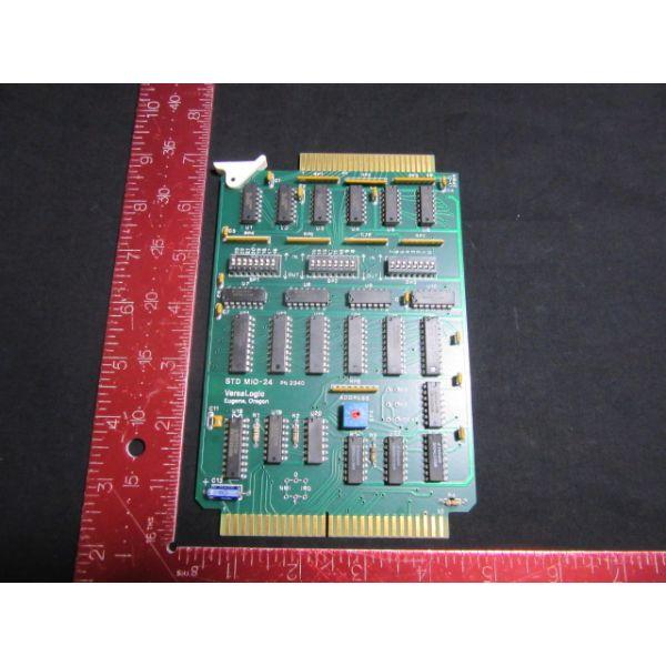 AG ASSOCIATES 5300-0091-01 VERSALOGIC STD-MIO-24 PCB, PN2340 RELAY PANEL INTER.