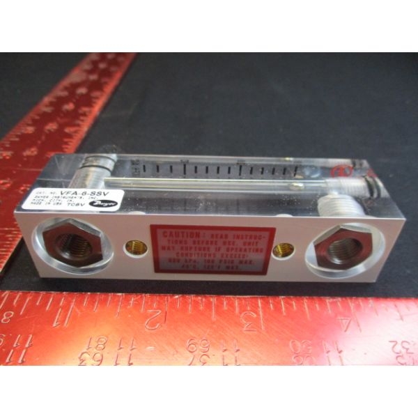 DWYER VFA-6-SSV Visi-Float Flowmeter Acrylic Block 5 Accuracy of Full Scale Range 4-30 SCFH air